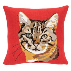 French tabby cat cushion cover