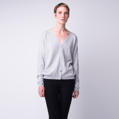 Classic take me anywhere cashmere cardigan in grey