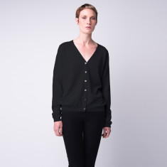 Classic take me anywhere cashmere cardigan in black