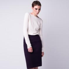 Cashmere V-back pullover