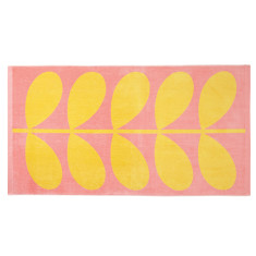 Orla Kiely jacquard stem beach towel sunlight & bubblegum