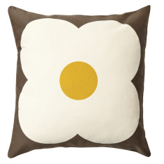 Orla Kiely giant abacus cushion chocolate/sunflower