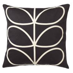 Orla Kiely linear stem cushion in slate blue