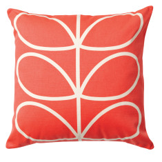 Orla Kiely linear stem cushion in red