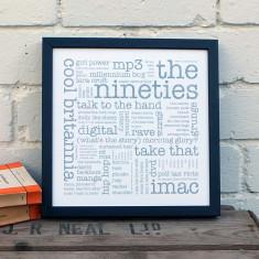 The Nineties typographic print