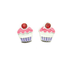 A small world cupcake stud earrings