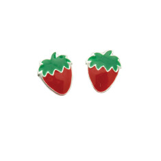 a small world Stud Earrings - Strawberries