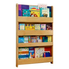 Tidy books bookcase with no alphabet