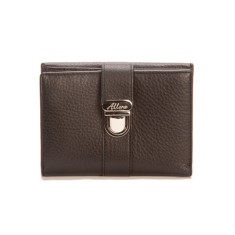 Blanche medium slim wallet with coin purse in black