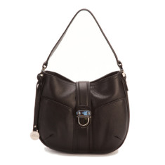 Blanche small leather Hobo in black