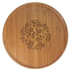 Bamboo large platter in orange tree