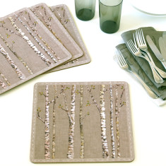 Two sets of birch placemats (4 in each set)