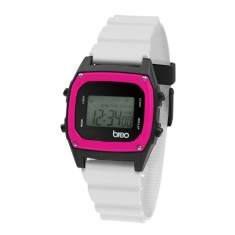 Breo Binary Watch White/ Pink