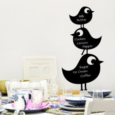 Chalkboard Birds Wall Decal