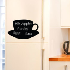 Reusable Chalkboard Teacup Wall Decal