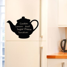 Chalkboard Teapot Wall Decal