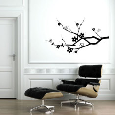 Cherry blossom branch wall decal