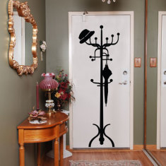 Classic Coat Hanger Wall Decal