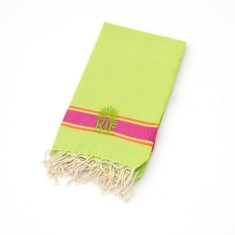 Bondi kids' towel in lime