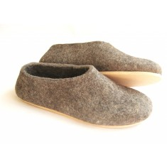 Women's eco felt slippers with cork sole
