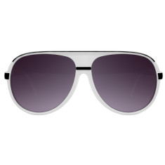 Breo Ellipse Sunglasses - White/Black