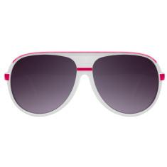 Breo Ellipse Sunglasses - White/Pink