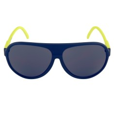 Breo Ellipse Rubber Sunglasses - Navy/Lime