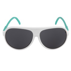 Breo Ellipse Rubber Sunglasses - White/Aqua