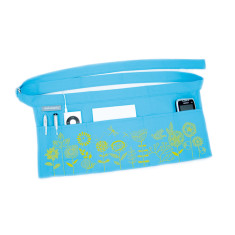 Wrapbag in funky flowers on aqua canvas