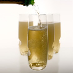 Stemless champagne flutes (4 pack tote)