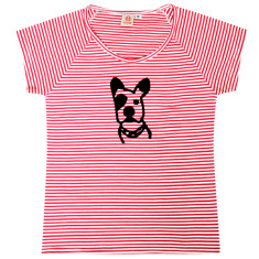 Women's puppy loose-fit top