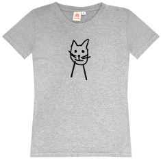 Happy Cat / womens t-shirt