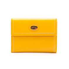 Harley medium slim leather wallet with coin purse in sunflower