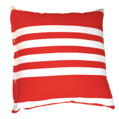 French Stripe Red Cushion Cover