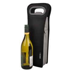 Single bottle BYO wine bag in black