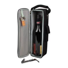 Deluxe black wine bag single BYO