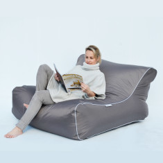 Glammaqua beanbag lounge cover in charcoal