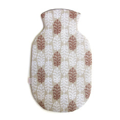 Hot Water Bottle Cover,  Indian Summer (white/red)
