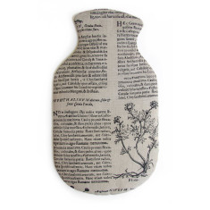 Hot Water Bottle Cover,  Latin Herbal