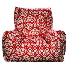 Red Damask Chair Cover