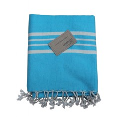Turkish beach towel in aqua
