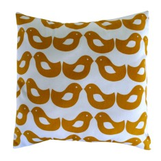 Yellow Kissing Bird Cushion (Cover)