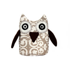 Owl toy - Beige damask