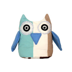 Owl toy - Bluebell stripes