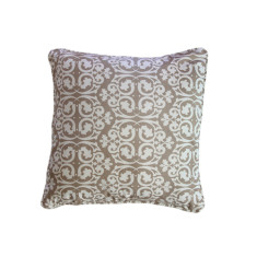 Damask Beige Cushion Covers x 2