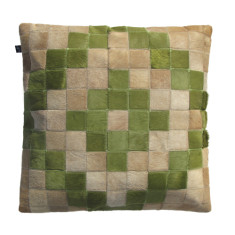 Azteca cushion cover in green