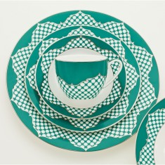 Fez turquoise collection fine bone china set (20 piece)