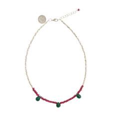 Pink & green aventurine chain