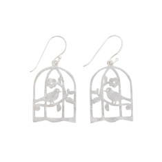 Bird in a cage earrings