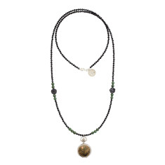 Black onyx fob necklace